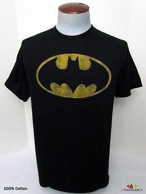 DC Comics: BATMAN Superman Flash Green Lantern Distressed Symbol Graphic T-Shirt