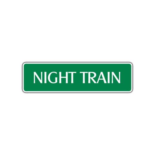 Night Train Harley Aluminum Metal Novelty Street Sign Wall Décor Gift