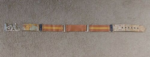 VINTAGE Peter Max belt with buckle  PETER MAX LOVE