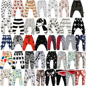 Children-Boys-Girls-Harem-Pants-Trousers-Kids-Baby-Casual-Leggings-Clothes-0M-7Y