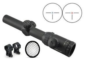 Visionking-1-25-5x26-Rifle-scope-amp-223-Picatinny-Rings-Killflash-Sunshade