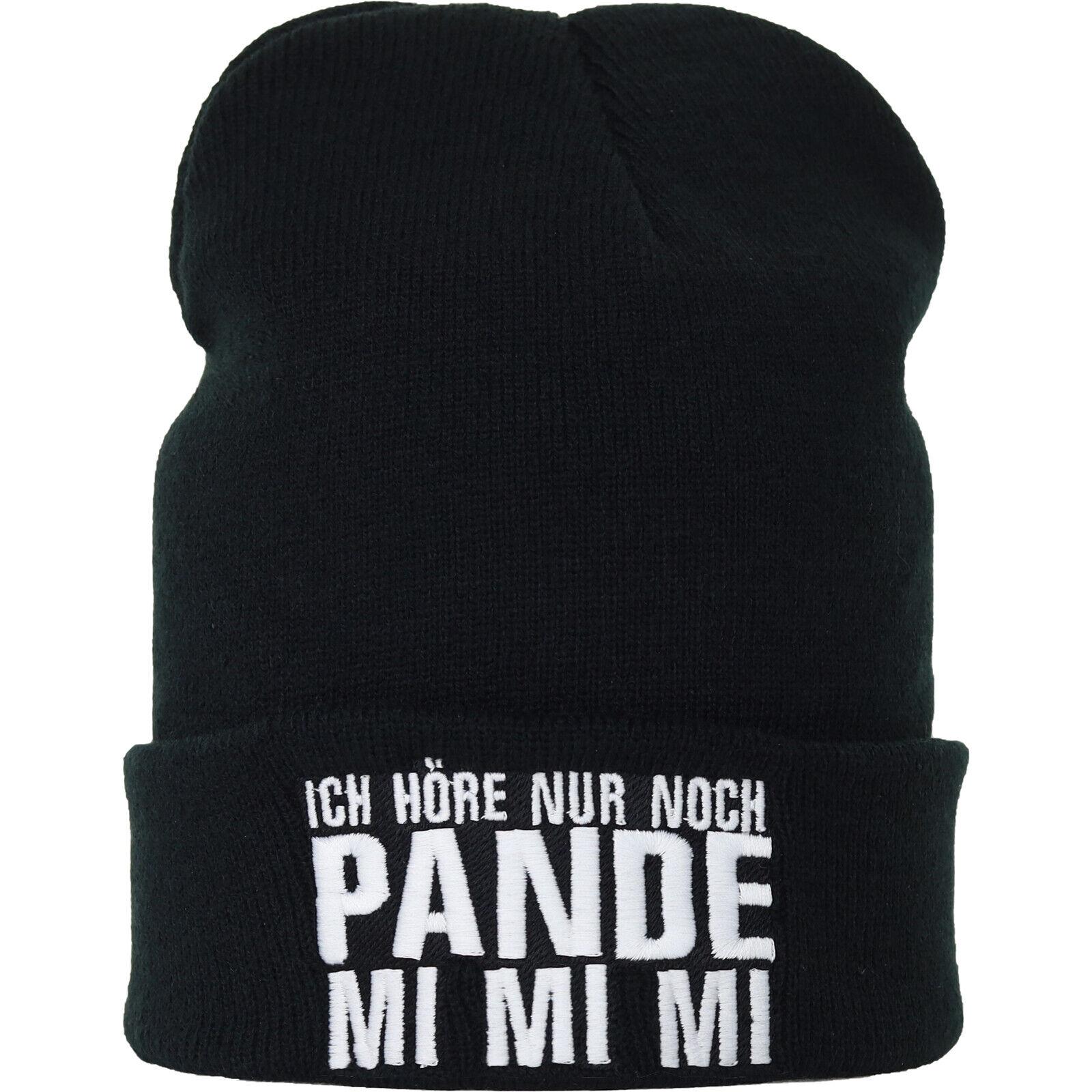 Ich hör nur noch Pande-Mi Mi Mi Strickmütze Wollmütze Haube Beanie Winter