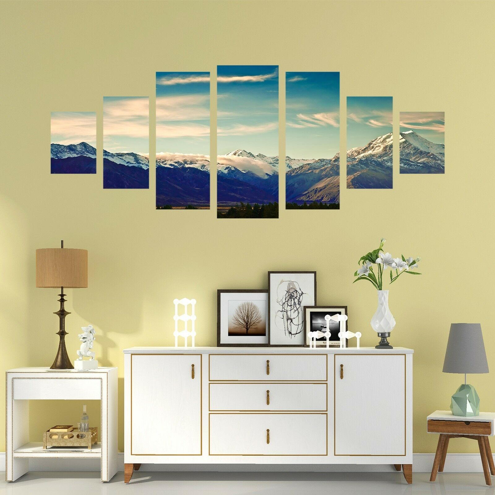 3D Mountain Sky 72 Unframed Print Wall Paper Decal Wall Deco Indoor AJ Jenny