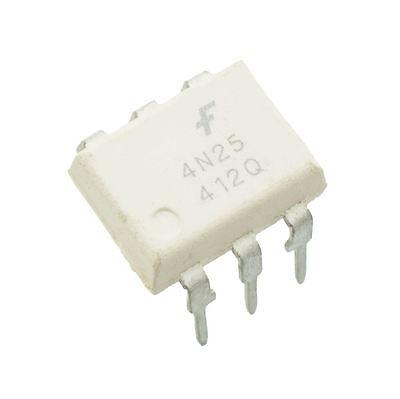 DIL6-1st Class 25 x 4N25 Fairchild Transistor Optocoupler Optoisolator DIP6