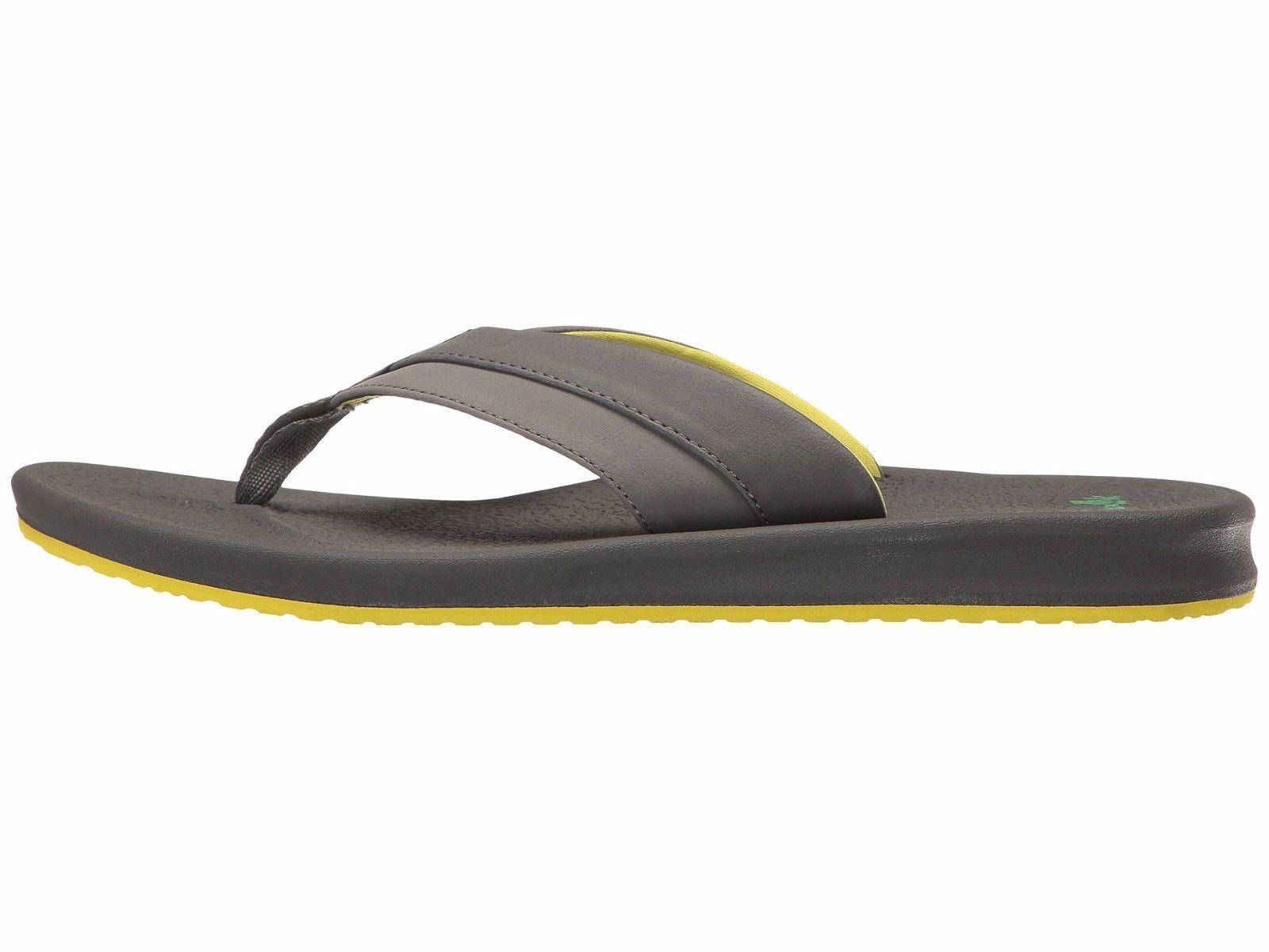 59db0ac36182 Sanuk Brumeister Brumeister Brumeister Charcoal Men s Casual Flip Flop  Sandals 1015944 7c6559