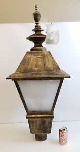 Details About Hadco Architectural Outdoor Lighting Large Lantern Pole Fixture Oil Rubbed 500 5