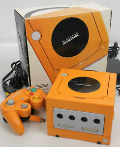 Game-Cube-Orange-Console-System-Boxed-DOL-001JP-For-Japan-Game-DN10718325-Tested