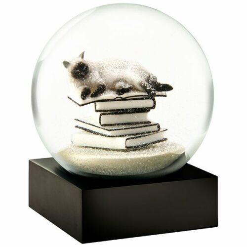 Cool Snow Globes Schneekugel Cat On Book Weiß