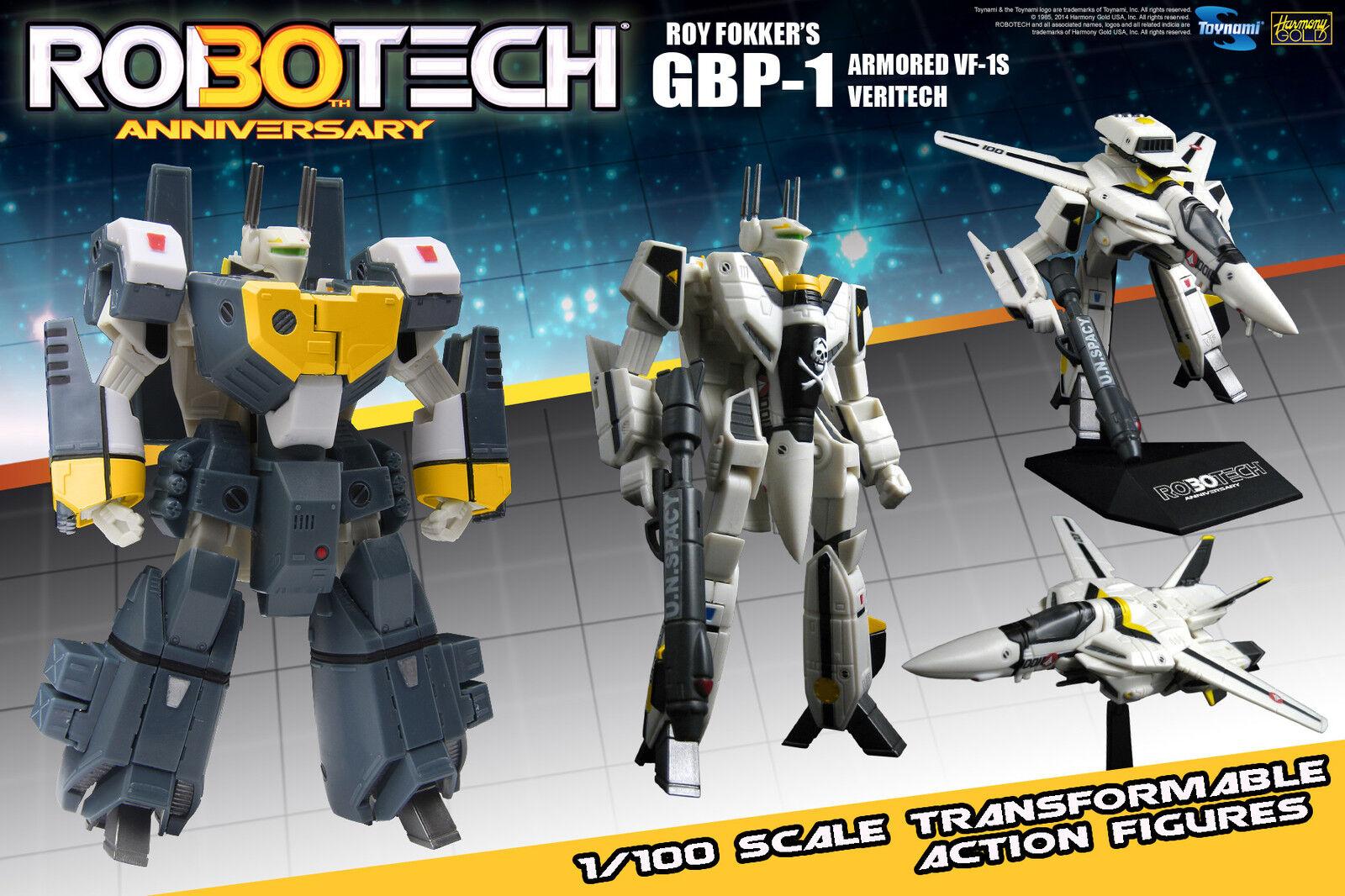 Macross Robotech VF-1S GBP-1 Heavy ArmGoldt Veritech 1 100 Transformable- New
