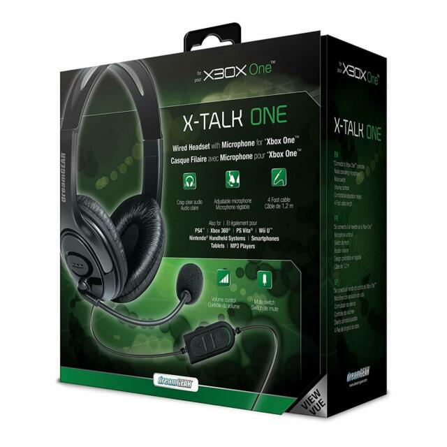 DREAMGEAR DRMXB16617 Xbox One Wired Headset with Microphone Black