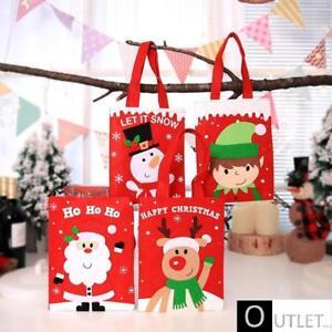 Accessori Natale.Sacchetto Natale Accessori Decorazioni Vigilia Bambini Festa Babbo Pupazzo Renna Ebay