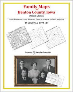 Family Maps Benton County Iowa Genealogy Plat History