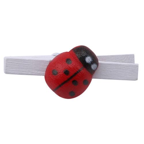 100pcs Rouge en Bois Vêtements Papier photo chevilles clothespin Cartes Craft Clips G