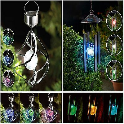 Hanging Colour Changing Solar Powered Wind Chime Light