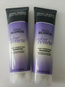 2 John Frieda Sheer Blonde Colour Renew Tone Correcting Shampoo 717226155437 Ebay