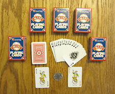 5 NEW DECKS OF MINI PLAYING CARDS MINITURE PLASTIC COATED TINY POKER CARD DECK