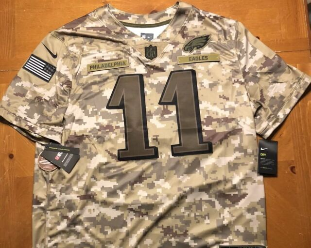 newest collection e7db9 d80ac Carson Wentz Salute to Service Jersey Philadelphia Eagles 2018 Mens Nike  NFL S