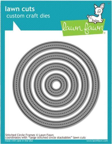 Lawn Fawn Lawn Cuts Cutting Die Set ~ STITCHED CIRCLE FRAMES  ~LF1141