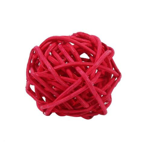 20x Round Wicker Rattan Ball Christmas Tree Party Decoration Ornaments 3.3cm