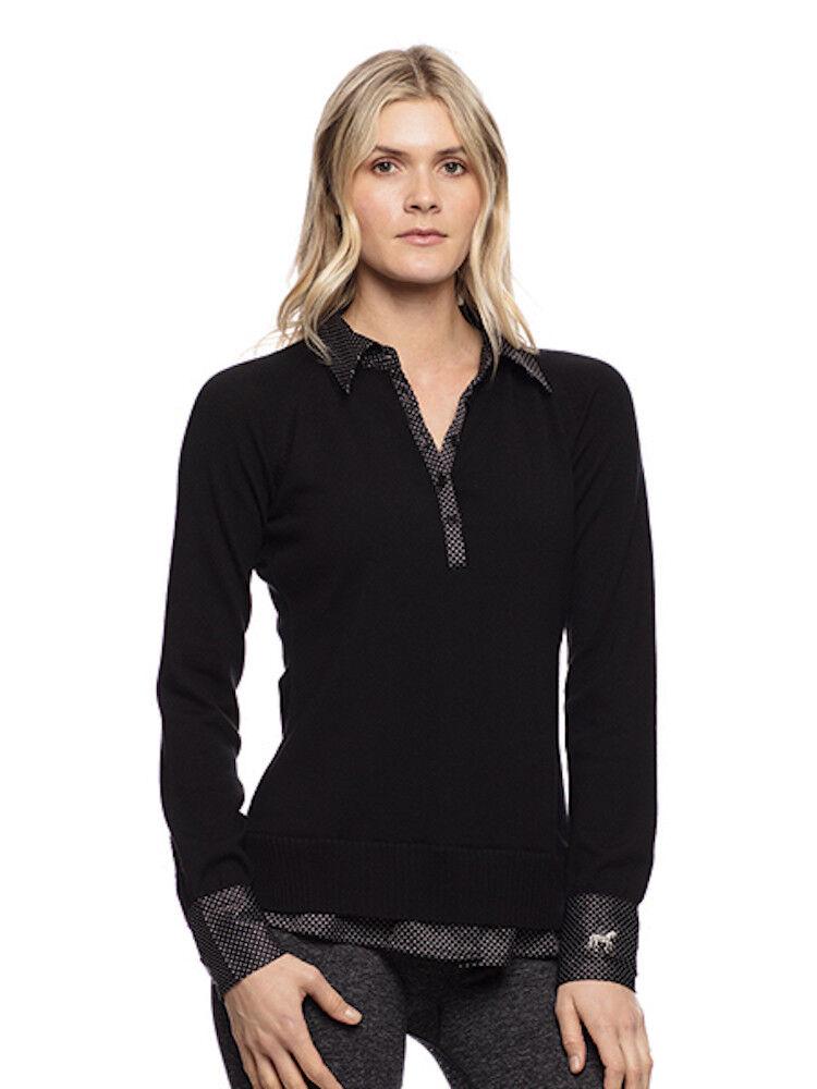 Goode Rider Posh Polo Sweater-negro-L