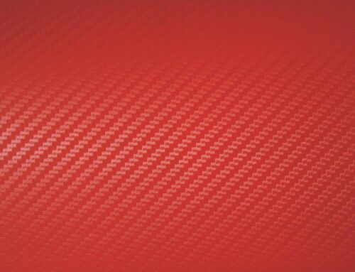 Matte Red Carbon Fiber 3D Texture Vinyl Car Vehicle Auto Decal Sticker Film Roll