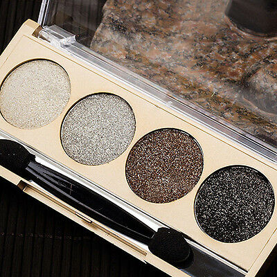 4 Colors Shimmer Eye Shadow  Professional Cosmetic Quad Nude Makeup Marvellous