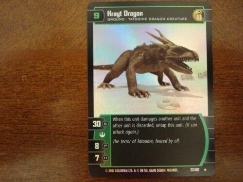 Star Wars TCG ANH Krayt Dragon FOIL 23//180