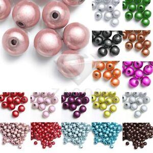10//20//40//80//120Stk Acryl Rund Miracle Wunder Perlen DIY 4//6//8//10//12mm Gemischt