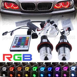 2x LED Light Bulbs Blue Angel Eyes Halo Ring Fit For BMW X5 E39 E60 E63 E64 E53