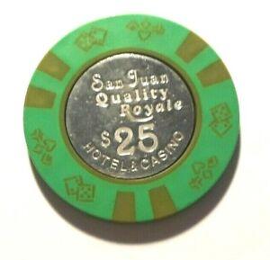 $100 HUNDRED DOLLAR POKER GAMING CHIP SAN JUAN QUALITY ROYALE CASINO PUERTO RICO