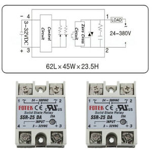 Hot-Solid-State-Relay-SSR-10-25-40DA-Electronic-Switching-Device-Input-3-32V-DC