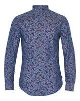 Matinique Allan Paisley Print Slim Shirt/blue - Xx Large Srp £74.95