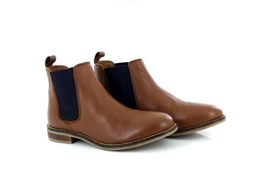 Ladies Leather Casual Chelsea Ankle Boots