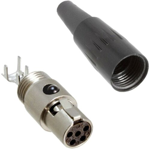 3x TA5F 5 Pin Mini XLR Connettore a Spina Inline Presa per Audio Donna MICROFONO