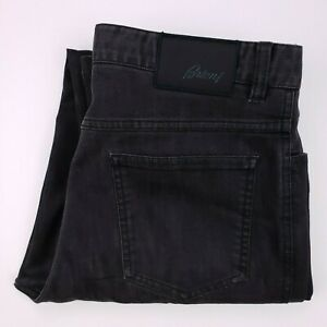 Brioni-Marmolada-Jean-32x33-Gris-Fonce-Taille-Hommes-Italie-Coton-Melange-Jeans