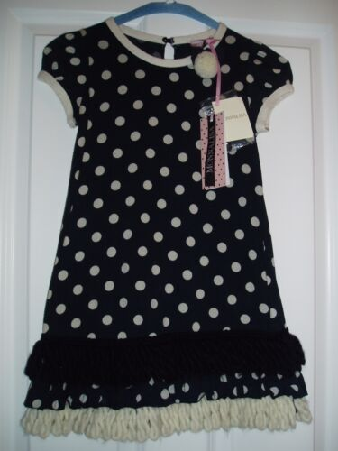 New MONNALISA Luxury Polka dress, size 7 years Cost 101 afficher le titre d'origine