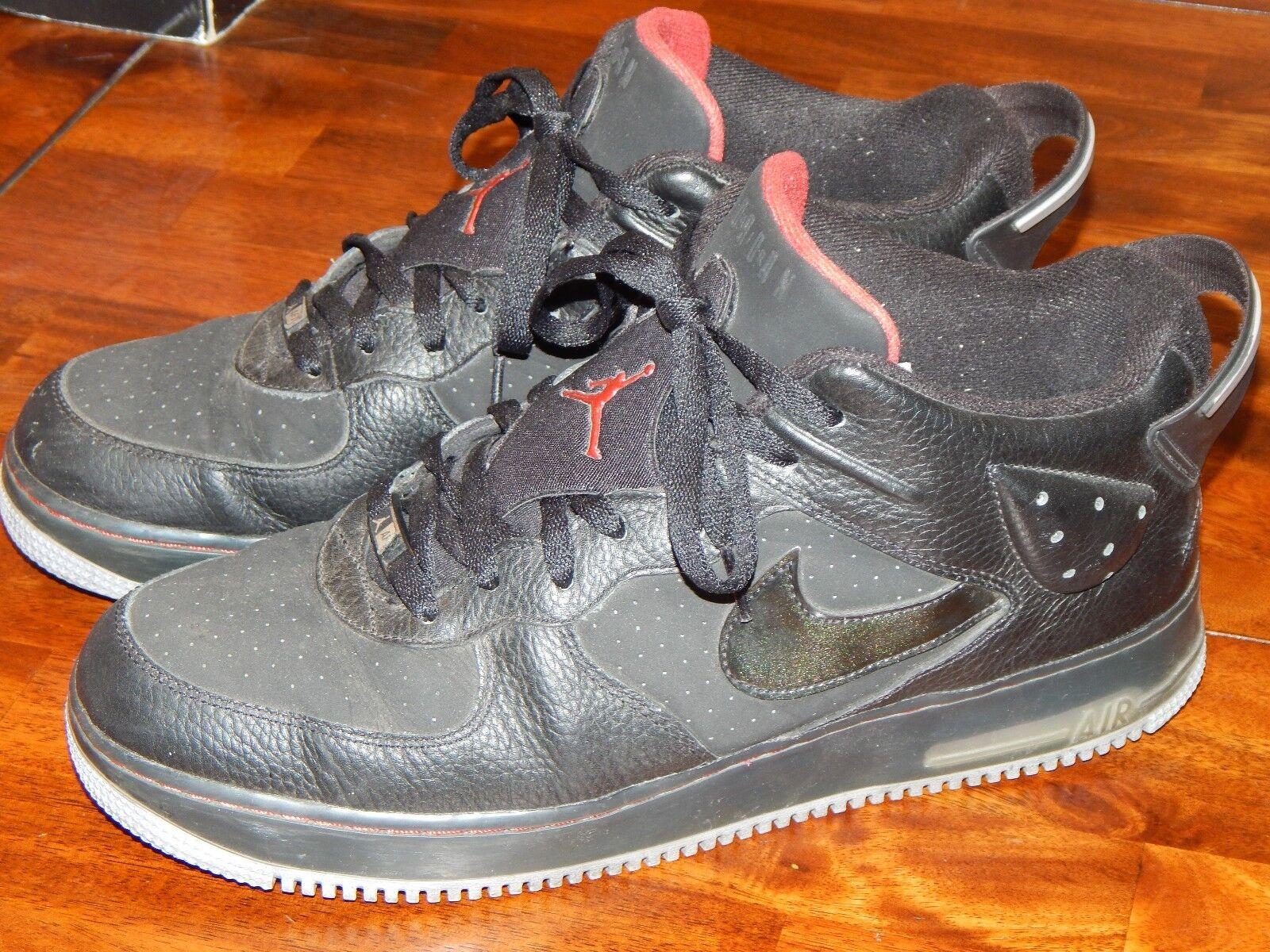 Nike AFJ 6 5/8th Men's 13 Stealth Air Force Jordan Black Stealth 13 Leather AF1 GU NDS 135 67202e