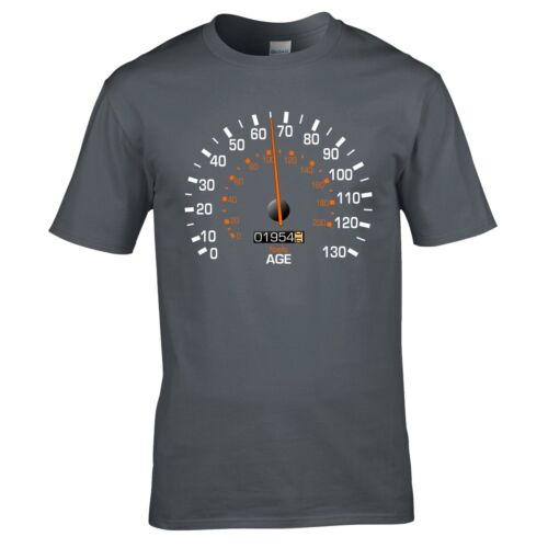Speedometer 1954 Birthday T-Shirt Funny Feels Age Year Present Mens Gift