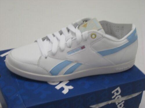 Reebok Fabulista Varsity Sneaker Damen Classic weiß-hellblau 36-40 NEU V51375