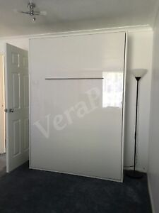 Details About Vertical Pro Smart Wall Bed Bedroom Pull Out Fold Down Away Small Dbl Gloss