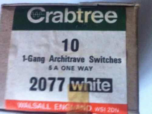 Crabtree Architrave Switch 1 Gang 5 amp 1 Way Switch 2077