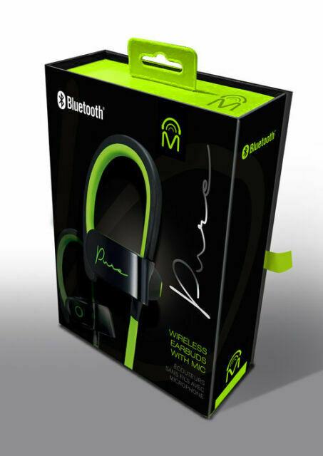 Mental Beats Pure Wireless Bluetooth Earbuds With Mic Green Black For Sale Online Ebay