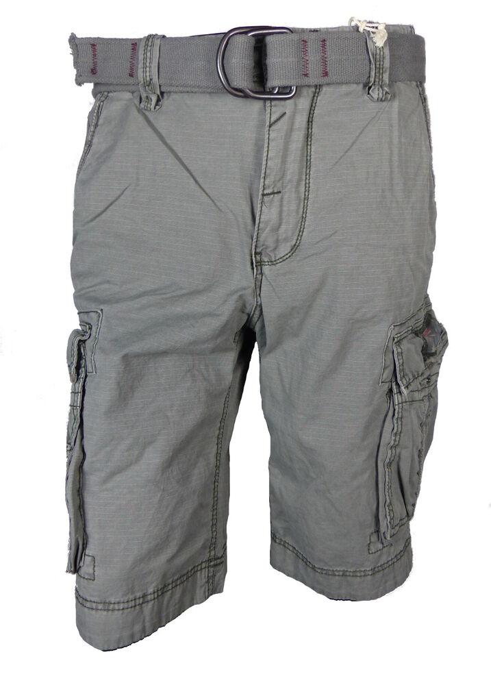 PréVenant Jet Lag Cargo Hommes Short Take Off 8 Gris Moon Cargo Shorts Hommes Pantalon Court Doux Et Doux