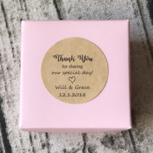 Kraft Thank You Personalized Wedding Favor Stickers Gift Labels Baptism Stickers Ebay