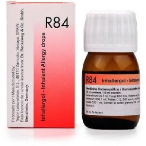 Details about Dr  Reckeweg R84 Inhalent Allergy Drops - 30ml + Free Shipping