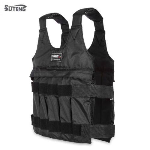50kg Loading Weighted Vest Adjustable Jacket Exercise Boxing Training Waistcoat