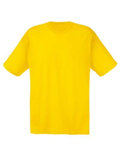 Paquete De 5 Fruit of the Loom Original Camiseta Hombre Informal Lisa S-2XL