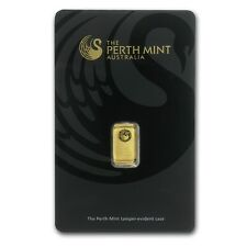 1 gram Perth Mint Gold Bar - In Assay Card - SKU #78886
