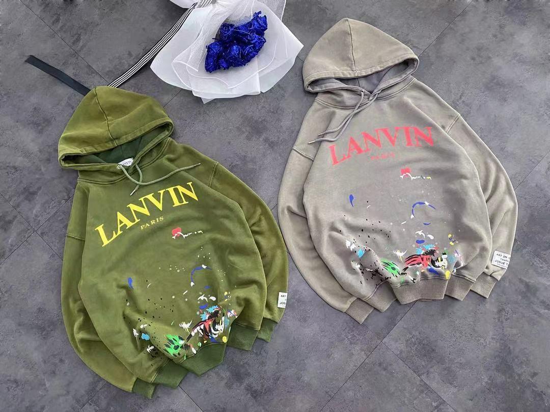 LANVIN Herbst/Winter Herren und Damen verwaschenes Graffiti Capsule Sweatshirt
