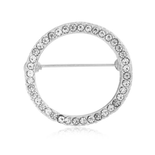 Womens Deer Head Geometric Brooches Pin Jewelry Wedding Rhinestone Dress Decor